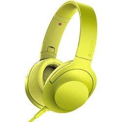 MDR100AAP h.Ear on Premium Hi-Res On-Ear Stereo Headphones - Lime Yellow