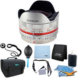 FE75MFT-S - 7.5mm F3.5 UMC Fisheye Lens for Micro Four Thirds - Lens Kit Bundle