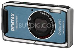 Optio W60 Waterproof 10MP Digital Camera w/ 5X Optical Zoom (Ocean blue)
