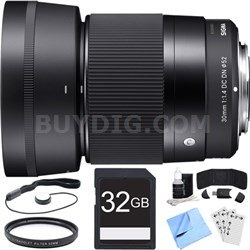 30mm F1.4 DC DN Lens for Micro 4/3 Mount Essential Accessory Bundle
