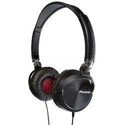 SE-MJ71-K - Steel Wheels On Ear DJ Inspired Stereo Headphones (Black)