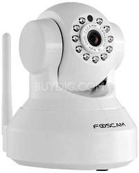 FI9816P Plug and Play 720P HD H.264 Wireless Pan/Tilt IP Cam, Night Vision White
