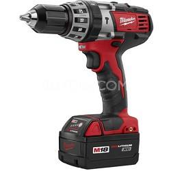 "2602-22 M18 Cordless LITHIUM-ION 1/2"" Hammer-Drill Driver Kit With 2 Batteries"