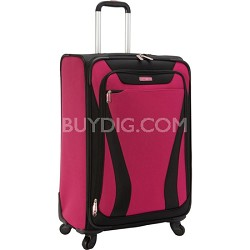 """Aspire Gr8 25"""" Exp. Spinner Suitcase - Bright Pink"""