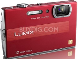 DMC-FP8R LUMIX 12.1 MP Digital Camera (Red)
