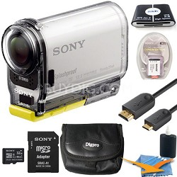 HDR-AS100VR/W High Definition POV Action Camera+ Live View Remote 32GB Kit