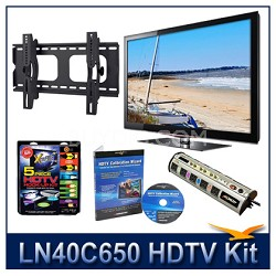 "LN40C650 - 40"" HDTV + Hook-up Kit + Power Protection + Calibration + Tilt Mount"