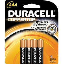 4 Pack AAA Alkaline Batteries Retail Package