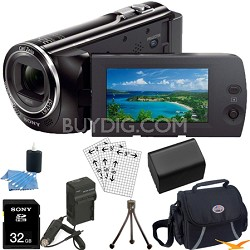 HDR-PJ230/B 8GB Full HD Camcorder with Projector Ultimate Bundle