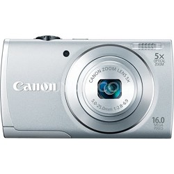 PowerShot A2600 Silver 16MP Digital Camera with 5x Optical Zoom, 720p HD Video