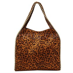 Grayson Shoulder Bag - Suede Leopard