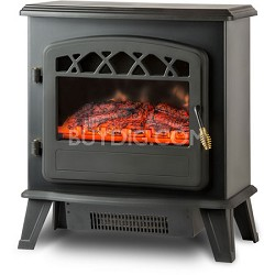 ORF-10340 Ottawa Retro Style Floor Standing Electric Fireplace, Black