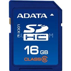 16 GB Secure Digital High-Capacity (SDHC) Class 6 -  ASDH16GCL6-R