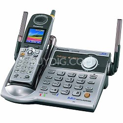 "KX-TG5566M 5.8 GHz FHSS Expandable Digital Cordless Phone with a 1.6"" Full-Color"