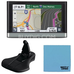 "nuvi 2597LMT 5"" Bluetooth GPS Navigation w/Lifetime Map Traffic Mount Bundle"