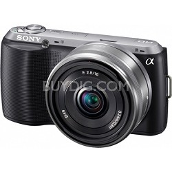 Alpha NEX-C3 Interchangeable Lens Black Digital Camera w/ 16mm Lens