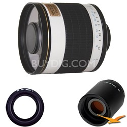 ED500M - 500mm f/6.3 Multi-Coated ED Mirror Lens for Nikon 1 with 2x Multiplier