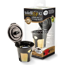 Reusable Single-Serve K3 Black and Gold K-Cup Filter for Keurig K-Cup Brewers
