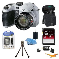 Power Pro X500-WH 16 MP with 16GB Camera Bundle (White)