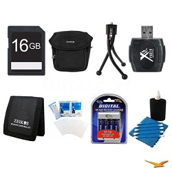 16GB SD Card, Case, AA Batteries, Card Reader, Card Wallet, and More