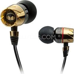 Monster MHTRB-PIEGLDCT Turbine Pro Gold Audiophile In Ear Speakers (129430)