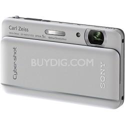 "Cyber-shot DSC-TX66 18.2 MP Exmor R CMOS Camera 5X Zoom 3.3"" OLED (Silver)"