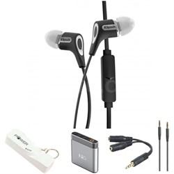 R6m In-Ear Headphones - Black with Headphone Bundle