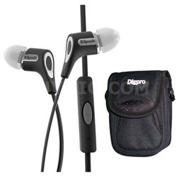 Klipsch 1060400 Black R6i Headphone Delux Bundle