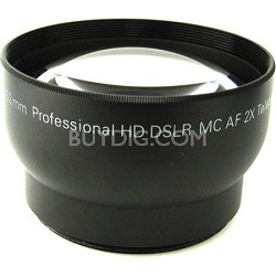 Pro 2X Telephoto Lens Converter - 52mm threading (Black)