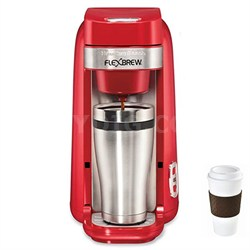 Single-Serve Coffee Maker, FlexBrew Red - 49960 + Copco To Go Cup Bundle