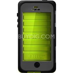 Armor Series Waterproof Case for iPhone 5 - Retail Packaging - Neon Green ATT