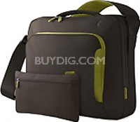 F8N076-CGG-DL 15-Inch Energy Collection Messenger Bag Chocolate/Green
