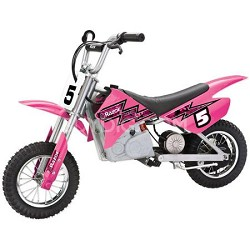 MX350 Dirt Rocket Electric Motocross Bike (ages 12 and up)- Pink - OPEN BOX