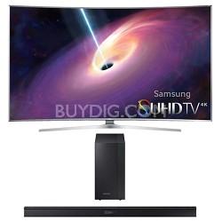 UN65JS9000 - Curved 65-Inch 2160p 3D Smart 4K UHD LED TV HW-J450 Soundbar Bundle