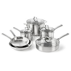 Classic Stainless Cookware Set, 10-Piece - 1891242