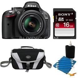 D5200 DX-Format Black Digital 16 GB SLR Camera and 18-55mm VR Lens Bundle