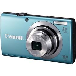 PowerShot A2400 IS 16MP Blue Digital Camera 5x Optical Zoom 720p HD Video