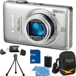 PowerShot ELPH 510 HS Silver Digital Camera 8GB Bundle