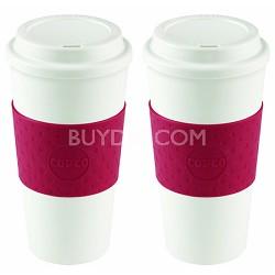 Acadia Travel Mug, 16-Ounce, Cherry Red 2510-9990 2 Pack Bundle