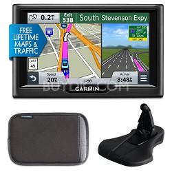 "nuvi 57LMT 5"" Essential Series 2015 GPS Maps/Traffic Mount & Case Bundle"