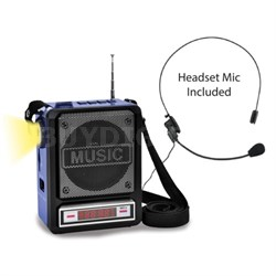Rechargeable Bluetooth Speaker with Wired Headset Mic & LED Torch Light WASP100