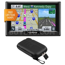 "nuvi 58LM 5"" Essential Series 2015 GPS with Lifetime Map Updates Case Bundle"