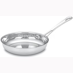 8 Inch Contour Stainless Open Skillet with Helper Handle - 422-20