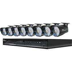 16 Channel Smart DVR w/ HDMI Output, 500GB HDD & 8 Hi-Resolution 600 TVL Cameras
