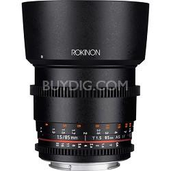 DS 85mm T1.5 Full Frame Cine Lens for Nikon Mount