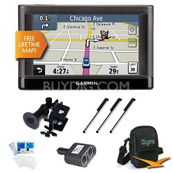 """nuvi 44LM US and Canada 4.3"""" GPS with Lifetime Map Updates Ultimate Bundle"""