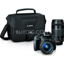EOS Rebel SL1 Digital SLR Camera w/ 18-55mm STM + 75-300mm f/4-5.6 III Lens