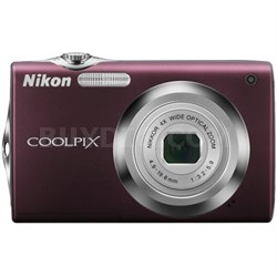 COOLPIX S3000 Digital Camera - Plum (Factory Refurbished)