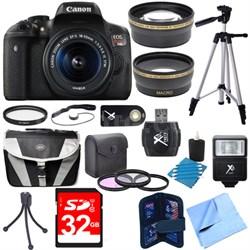 EOS Rebel T6i Digital SLR Camera w/ EF-S 18-55mm IS STM Lens Kit Deluxe Bundle