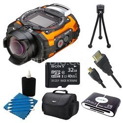 WG-M1 Compact Waterproof Action Digital Camera Kit - Orange Ultimate Bundle